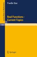 Real Functions - Current Topics