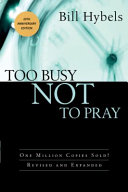 Too Busy Not To Pray Book PDF