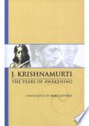 Mary Lutyens 1 Krishnamurti The Years Of Awakening