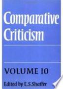 Comparative Criticism  Volume 10  Comedy  Irony  Parody