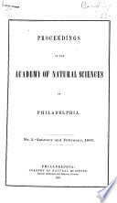 Proceedings of the Academy of Natural Sciences of Philadelphia Book