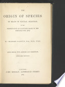 The Origin of Species by Means of Natural Selection,