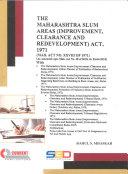 The Maharashtra Slum Areas  Improvement  Clearance and Redevelopment  Act  1971