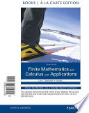 Finite Mathematics and Calculus with Applications Books a la Carte Edition