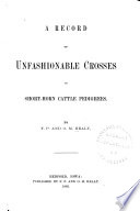 A Record Of Unfashionable Crosses In Shorthorn Cattle Pedigrees