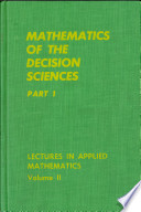 Mathematics of the Decision Sciences