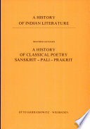A History Of Classical Poetry Book PDF