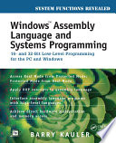 Windows Assembly Language and Systems Programming