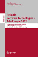Reliable Software Technologies    Ada Europe 2012