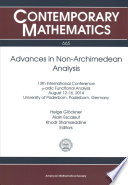 Advances in Non-Archimedean Analysis