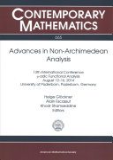 Advances in Non-Archimedean Analysis