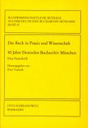 Das Buch in Praxis und Wissenschaft