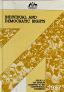 Report Of The Advisory Committee On Individual Democratic Rights Under The Constitution