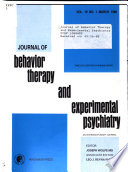 Journal of behavior therapy and experimental psychiatry