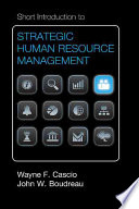 Cover of Short Introduction to Strategic Human Resource Management