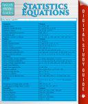 Statistics Equations  Speedy Study Guides