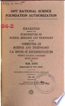 1977 National Science Foundation Authorization