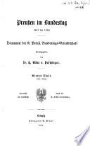 Publicationen aus den Preussischen staatsarchiven ..