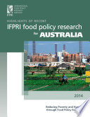 Highlights Of Recent Ifpri Food Policy Research For Australia Book PDF