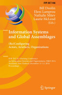 Information Systems and Global Assemblages   Re configuring Actors  Artefacts  Organizations
