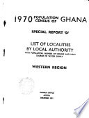1970 Population Census of Ghana: Northern and Upper regions