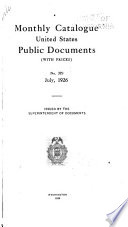 Monthly Catalogue United States Public Documents