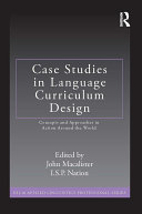 Case Studies in Language Curriculum Design