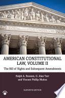 American Constitutional Law  Volume II