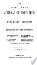 Wisconsin Journal of Education Book