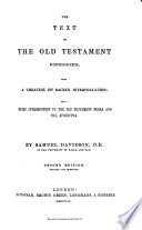 The Text of the Old Testament Considered