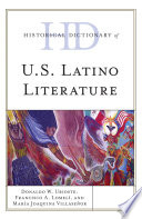 Historical Dictionary Of U S Latino Literature