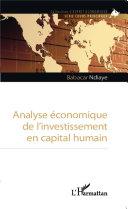 Analyse économique de l'investissement en capital humain [Pdf/ePub] eBook