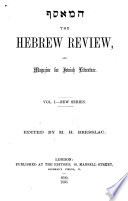 The Hebrew Review  and Magazine for Jewish Literature Book PDF