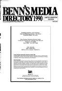 Benn s Media Directory  1990 Book