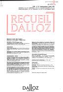Recueil Dalloz
