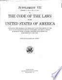 The Code of the Laws of the United States of America of a General and Permanent Character in Force December 7  1925 Book PDF