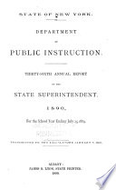 Annual Report of the State Superintendent for the School Year     Book