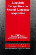 Linguistic Perspectives on Second Language Acquisition
