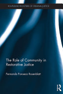 Pdf The Role of Community in Restorative Justice