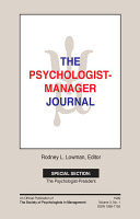 The Psychologist-Manager Journal