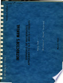 Instructor S Manual Essentials Of Mathematics Applicable To A C And D C Circuits