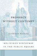 Prophecy without Contempt [Pdf/ePub] eBook