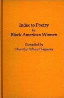 Index to Poetry by Black American Women