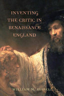 Inventing the Critic in Renaissance England