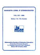 Maharashtra Journal of Extension Education