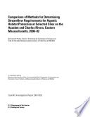 Comparison of methods for determining streamflow requirements for aquatic habitat protection at selected sites on the Assabet and Charles Rivers  eastern Massachusetts  2000 02