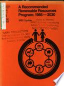 Resources Planning Act Program, 1985-2030