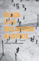 Religion after Secularization in Australia Pdf/ePub eBook