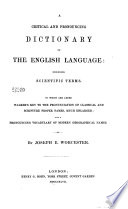 A Critical and Pronouncing Dictionary of the English Language