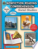 Nonfiction Reading Comprehension  Social Studies  Grd 6 Book